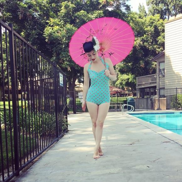 3a0df7278c Red Dolly Swimwear Swim | Retro Watermelon Print Suit | Poshmark